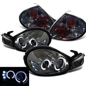 Dodge Neon Twin Halo LED Smoke Projector Head Lights + Tail Lights