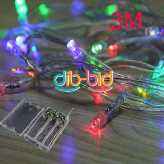 3M 30 LED Light Battery Colorful White String Bulb Party Christmas