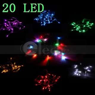 2m 20 LED Light Christmas Party Battery String Light