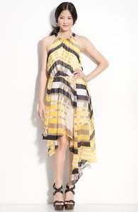 JESSICA SIMPSON YELLOW HANKIE HALTER DRESS SIZES 4, 6, 10, 12, 14