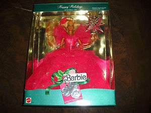 1990 Happy Holidays Barbie Doll Special Edition 3rd in A Series NRFB