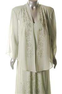 Plus Size 20/22 Mother of the Bride or Groom Dress & Jacket in Sage