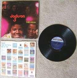 Vintage The Jackson 5 THIRD ALBUM LP Record Album 1970