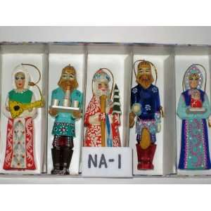 Christmas Ornaments Santa Russian Hand made, Hand painted