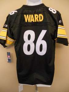 NEW HINES WARD Pittsburgh STEELERS YOUTH XLARGE XL 18 20 REEBOK SEWN