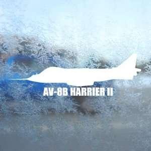 AV 8B HARRIER II White Decal Military Soldier Car White