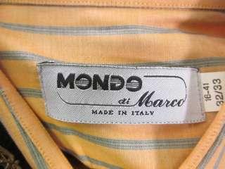 MONDO DI MARCO Mens Orange Gray Button Up Shirt Sz 32/3