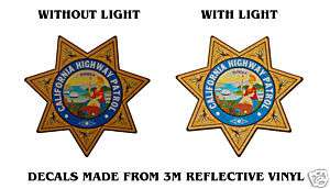 CALIFORNIA HIGHWAY PATROL POLICE BADGE DECAL 3½ x 3½