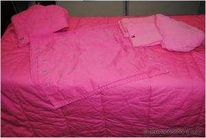 Tommy Hilfiger Full/Queen Comforter w/ Sheet Set & Shams Pink Nautical