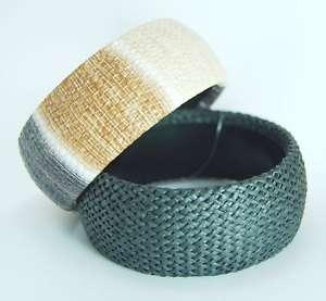 Natural Brown Fabric Vintage HandMade Bangle Bracelet