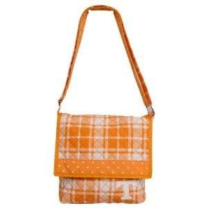 Tennessee Volunteers Orange Plaid Messenger Bag Sports