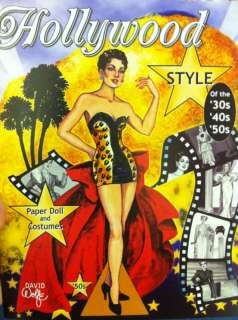 David Wolfe Paper Doll Book Hollywood Style of the 50s