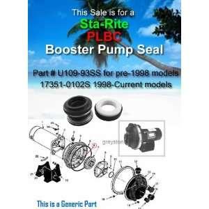 STA RITE Booster Pump PLBC Seal Replacement U109 93SS
