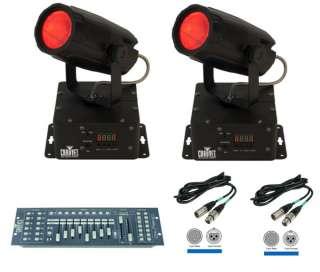 Mini Moon LED 360 DMX Lights + Obey 40 Light Controller + 2 DMX Cables