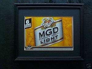 MILLER GENUINE DRAFT LIGHT BEER SIGN #51A