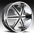 24 x9.5 Dub Big Homie W/O Rivet Chrome 5 Lug Wheel Rims