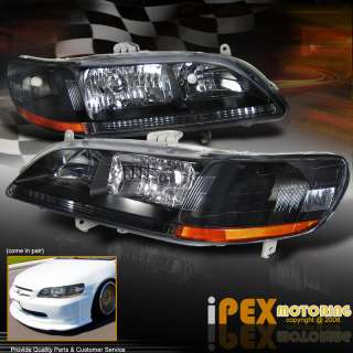 1998 2002 Honda ACCORD JDM Black Housing headlights