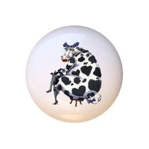 Cows Miss Moo Cow Drawer Pull Knob