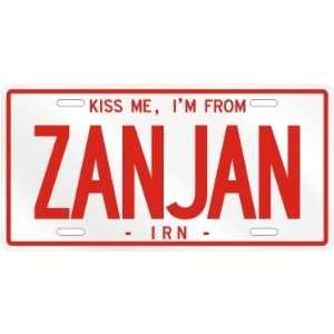 NEW  KISS ME , I AM FROM ZANJAN  IRAN LICENSE PLATE SIGN
