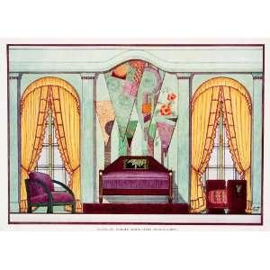 Print Modern Art Deco Bedroom Geometry Design Edward Thorne Furniture