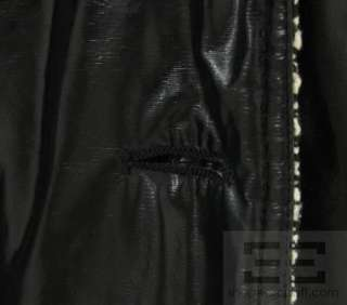 Chanel Boutique Black Patent & Tweed Trim Gold Button Jacket