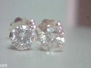 50 CT E VS2 VERY HIGH QUALITY DIAMOND STUD EARRINGS SOLID 14KT GOLD $