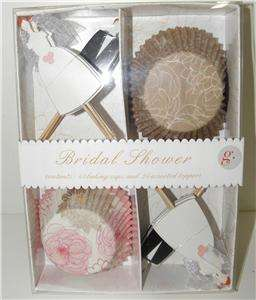 NEW MERI MERI BRIDAL SHOWER WEDDING CAKE TOPPERS CUPCAKE KIT 24 GIFT