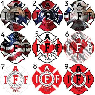 Four   4 IAFF Firefighter Sticker Decals 36 Options