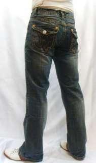 NWT MEK Denim Mens Jeans NATAL Multi Big Stitch Flap 32