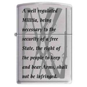 Zippo Custom Lighter   Peoples Military Militia Saying