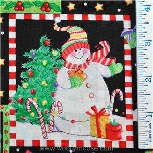 HALF YARD MBT Kimberly Montgomery Snowman PATCH Winter Christmas
