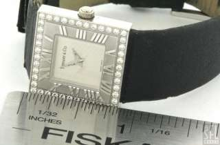 TIFFANY & CO. ATLAS 18K WHITE GOLD .44CT VS/F DIAMOND LADIES WATCH