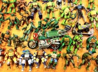 Huge lot of Teenage Mutant Ninja Turtles TMNT 88 figures 5 vehicles