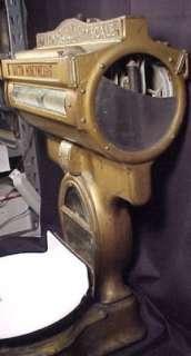 Antique Brass Dayton Moneyweight Store Scale Style 346