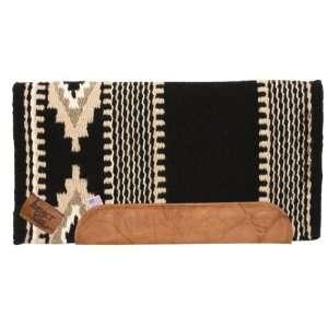Impact Gel Navajo Cowtown Saddle Pad   36 x 34 Black