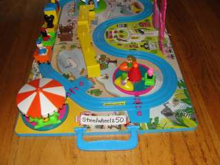 Walt Disney Character Fold A Way Play World w/ Box Train Set Toy Land