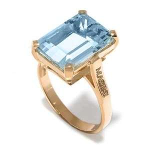 Masini Ladies Ring in Yellow 18 karat Gold with Aquamarine, form