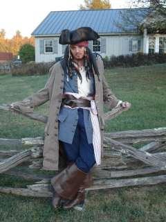 exact Pirate VEST JACK SPARROW Halloween Fancy Costume