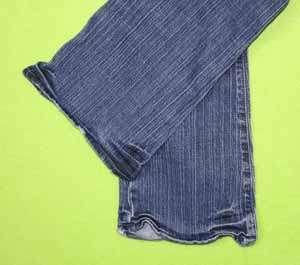 00 Short x 27 Womens Blue Jeans Denim Pants Stretch Flare EI62