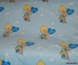 Precious Moments Boy Jesus Loves Me Fleece Fabric BTY