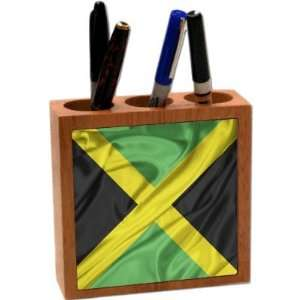 Rikki KnightTM Jamaica Flag 5 Inch Tile Maple Finished