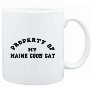 Mug White  PROPERTY OF MY Maine Coon  Cats