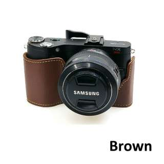 New Digital Camera Body Half Case Pouch Bag for Samsung NX200 Brown