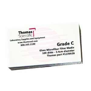 Thomas C2400 Borosilicate Glass Microfiber Filter, 1.2 Micron, Fast