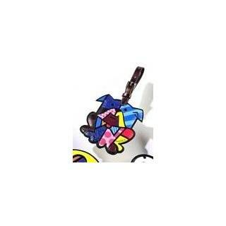 Romero Britto Butterfly Luggage Tag Travel Bags ID Name Bag Backpack