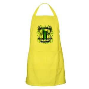 Apron Lemon Shamrock Pub Luck of the Irish 1759 St Patrick