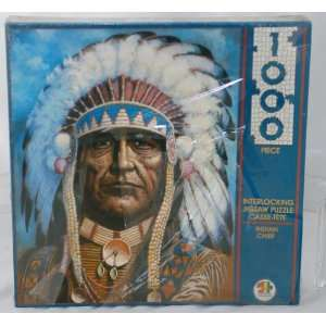 1000 Piece Jigsaw Puzzle   Indian Chief Toys & Games