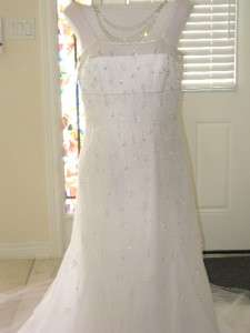 NWT NEW San Patrick Pronovias White Tulle Wedding Dress Bridal Gown