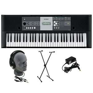230 Premium Electric Piano Keyboard 61 key W/Stand Headphones Adapter