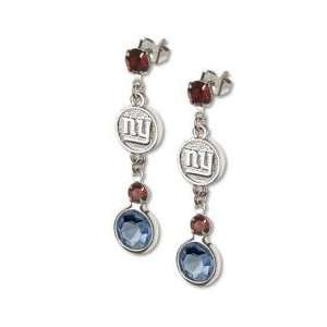 Officially Licensed New York Giants Earrings NFL Logo w/ Team Colors